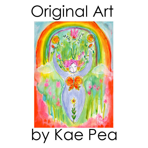 """Utopian Goddess"" Original Mixed Media Painting by Kae Pea"