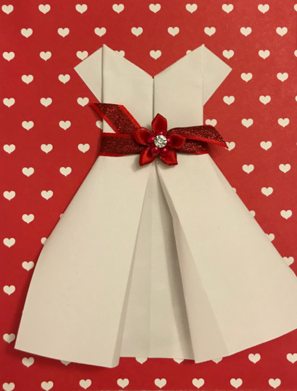 White & Red Hearts Dress