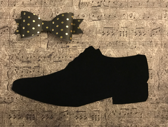 Black Shoe & Musical Notes