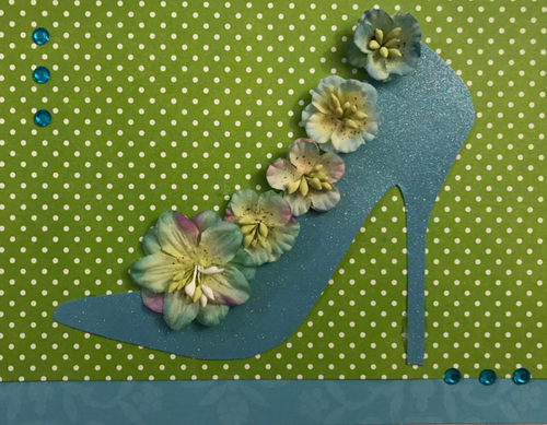 Blue Flower Shoe