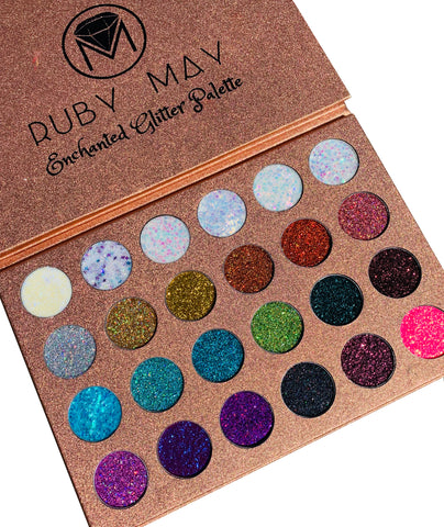 Enchanted Glitter Palette 24 Color Glitter