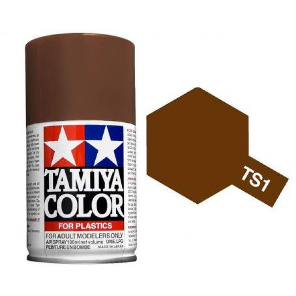 TS-1 Red Brown Spray Paint Can  3.35 oz. (100ml) 85001