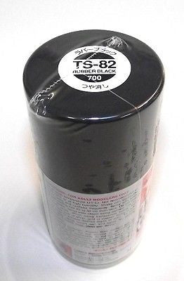 TS-82 RUBBER BLACK Spray Paint Can  3.35 oz. (100ml) 85082