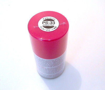 PS-33 CHERRY RED R/C Spray Paint FOR POLYCARBONATE (100ml) 86033