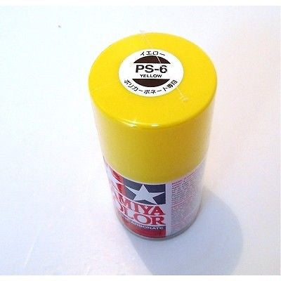 PS-06 YELLOW Spray Paint Can FOR POLYCARBONATE 3.35 oz. (100ml) 86006