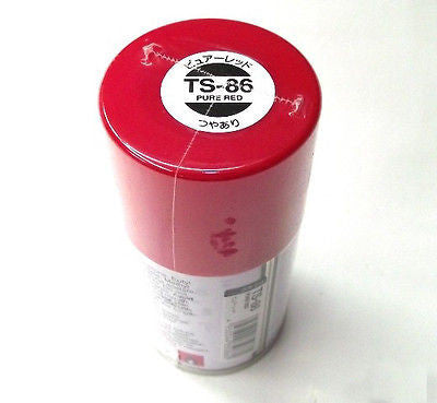 TS-86 PURE RED Spray Paint Can  3.35 oz. (100ml) 85086
