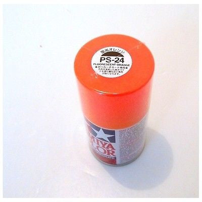 PS-24 FLUORESCENT ORANGE R/C Spray Paint FOR POLYCARBONATE (100ml) 86024