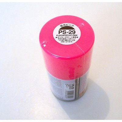 PS-29 FLUORESCENT PINK R/C Spray Paint FOR POLYCARBONATE (100ml) 86029