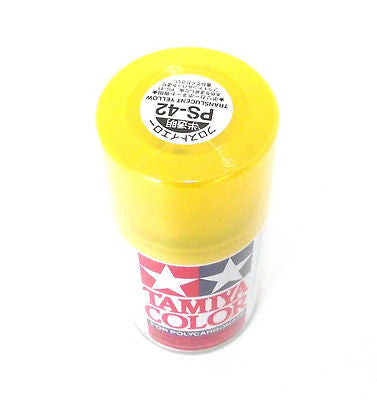 PS-42 TRANS YELLOW R/C Spray Paint FOR POLYCARBONATE (3.3 OZ.) 86042