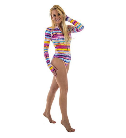BoHo Stripe Zippered Mini Active Wear - Valli Moyna
