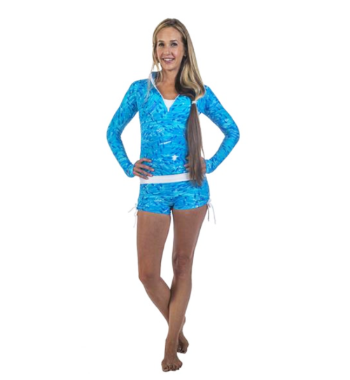 Hoakoa Puhihale Rashguards Blue Fish Active Wear