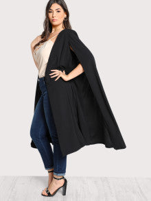 Solid Longline Cape Coat