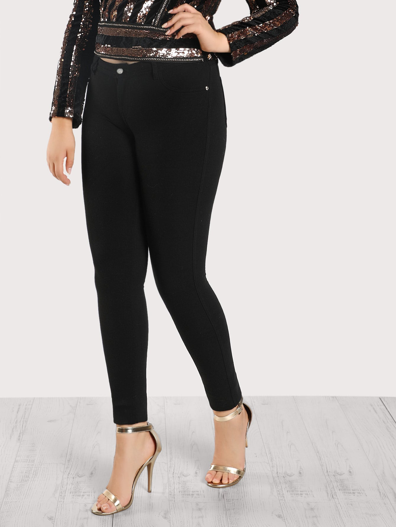 Mid Rise Fitted Jegging Pants