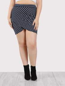 Tulip Wrap Striped Skirt