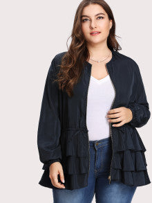 Best Seller! Tiered Layer Ruffle Jacket