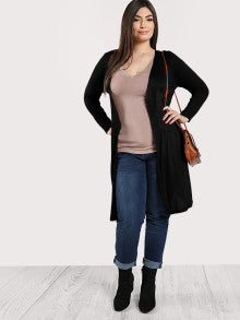 Slit Side Solid Longline Coat