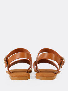 Sling Back Ankle Strap Single Band Flat Sandal