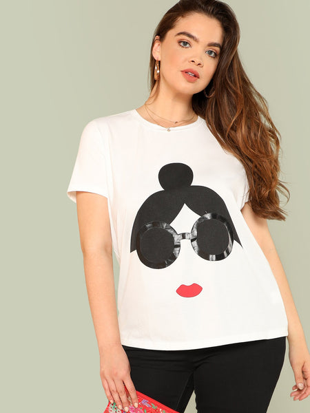 Cartoon Print Tee
