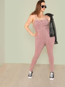Crisscross Front Skinny Cami Jumpsuit
