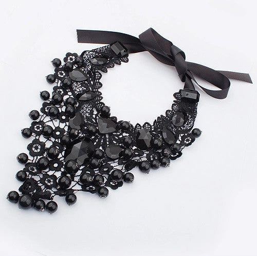 Lace & Stone Statement Necklace