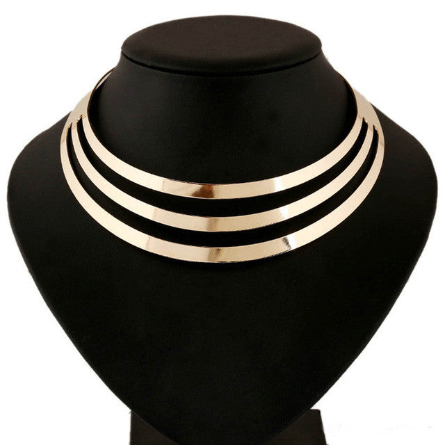 Choker Metal layer Necklaces