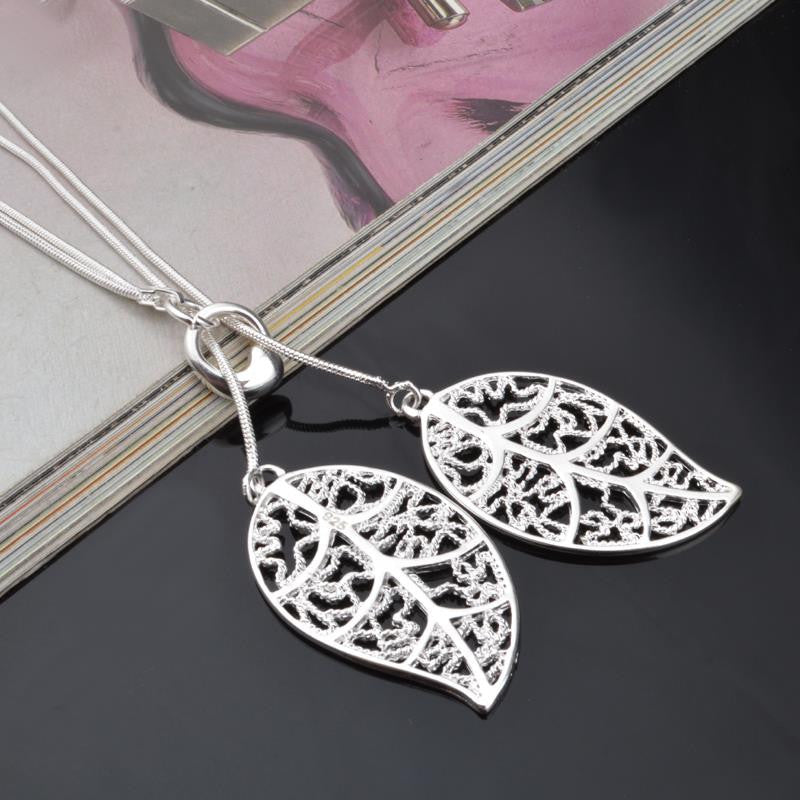 Big Leaf Pendant Necklace