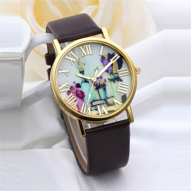 Best Seller! Floral Design Wrist Watch