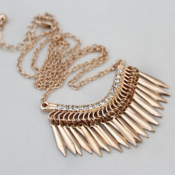 Golden Tassels Necklace