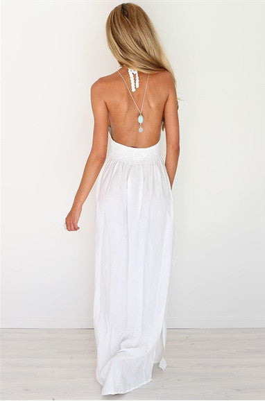 Backless Halter Neck Dress