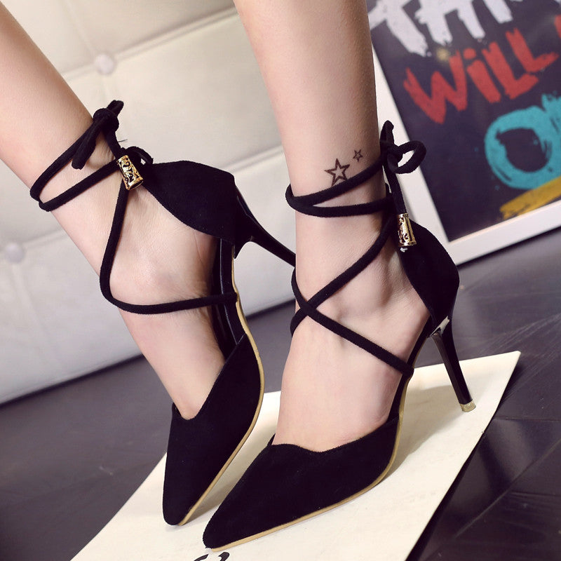 Ankle Cross Ties Sandals