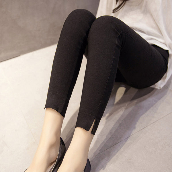 Ankle Split Skinny Pants