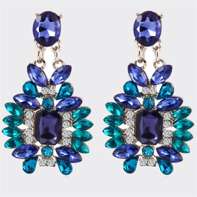 Trendy Ethnic Crystal Earring