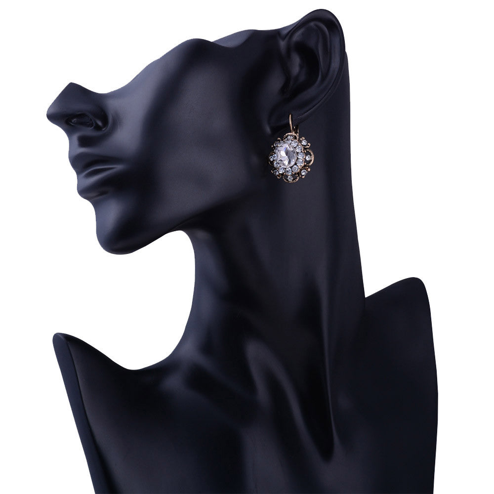 Flower Stone Stud Earring