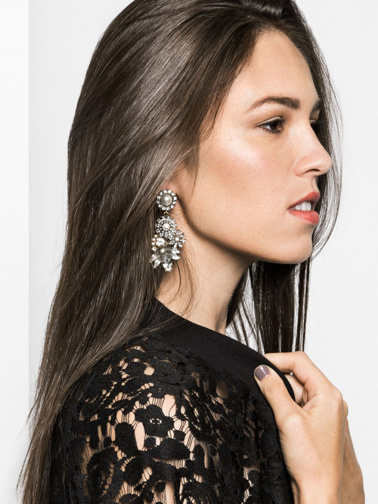 Big Crystal Statement Earrings