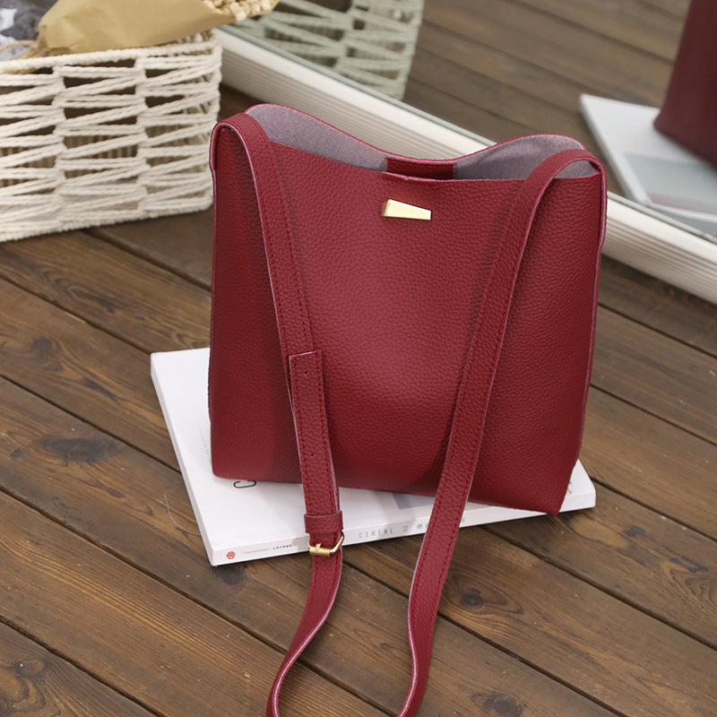 Faux Leather Should Strap Tote Bag