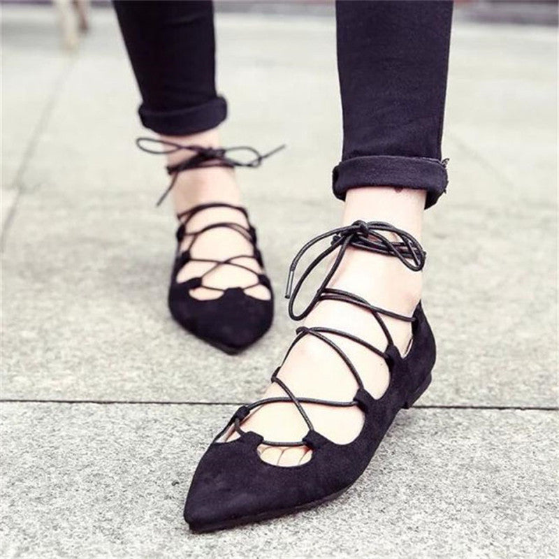 Lace up Gladiator Flats