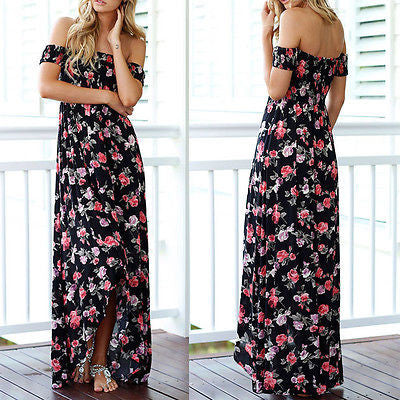 Boho Strapless Maxi Dress