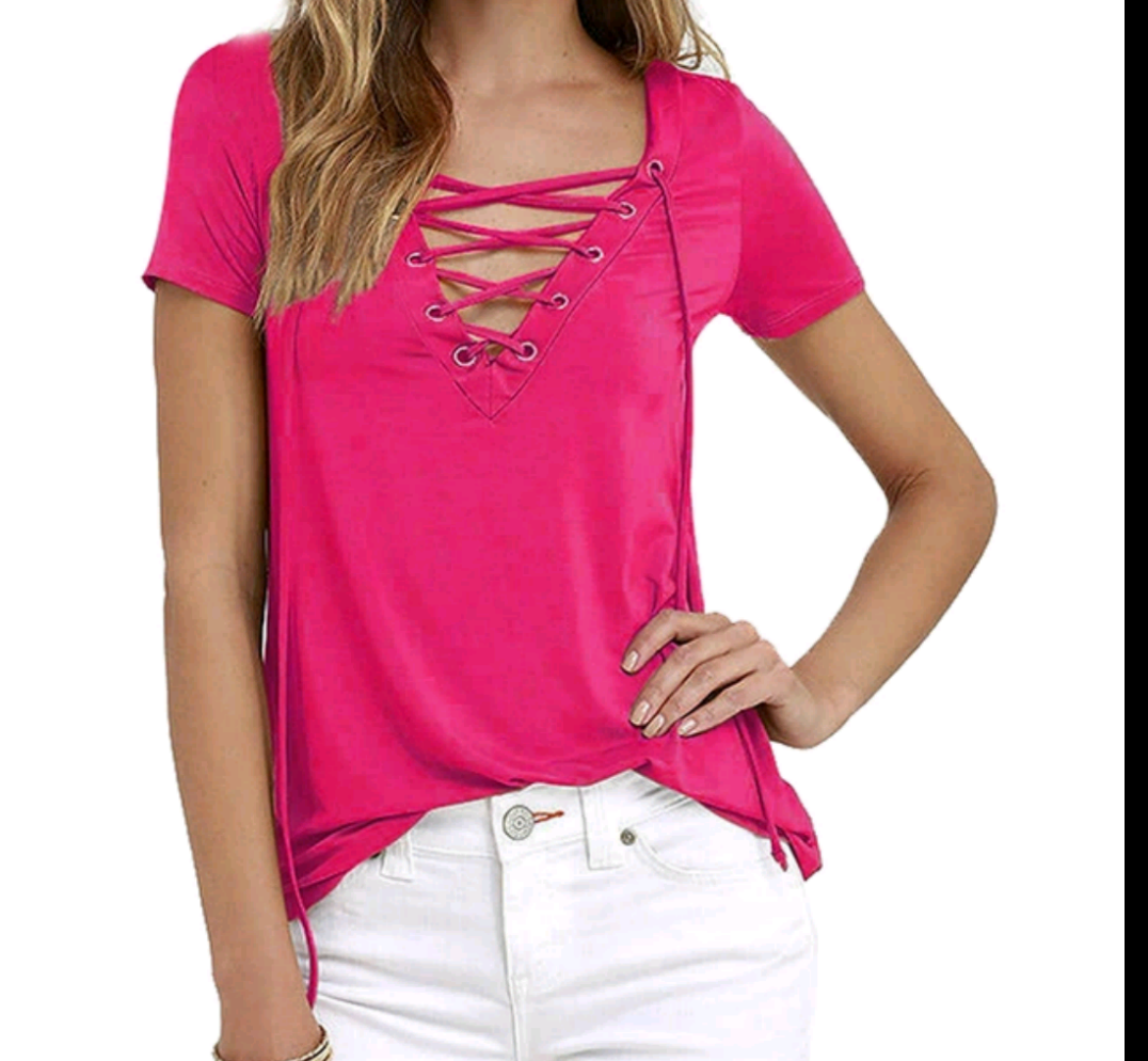 Best Seller! Front Lace Tee