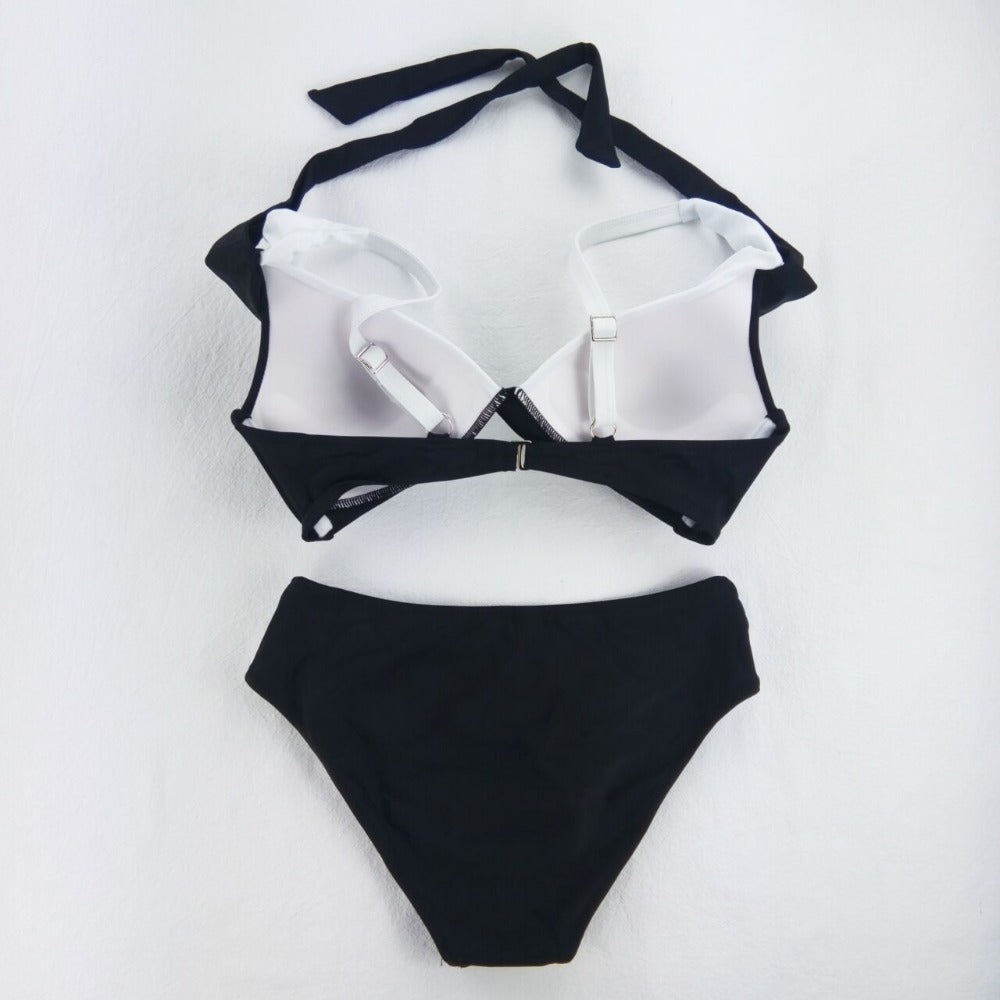 Black And White Bathing Suit