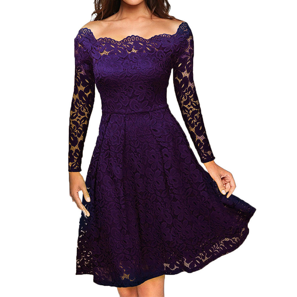 strapless Formal  Lace Dress