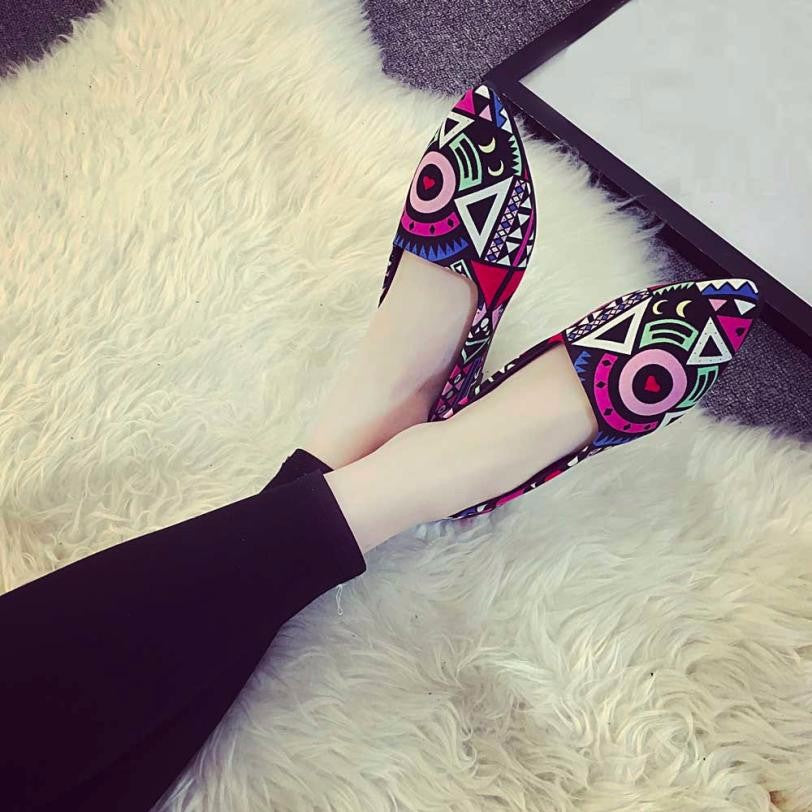 Multi color Ballet Slip On Flats