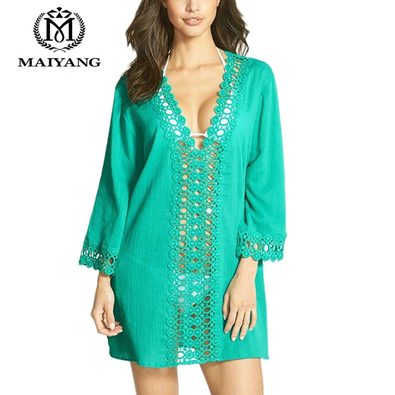 Kaftan Style Long Sleeve Beach Coverup
