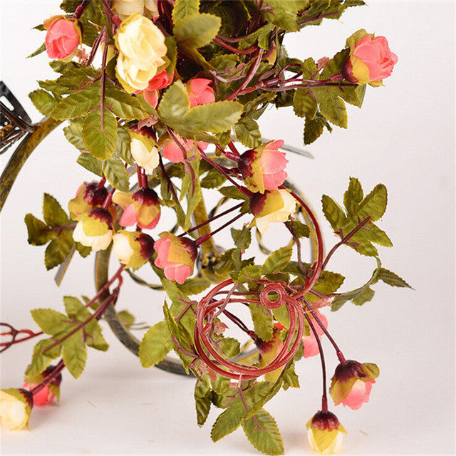 Artificial Flowers with Green leaves
