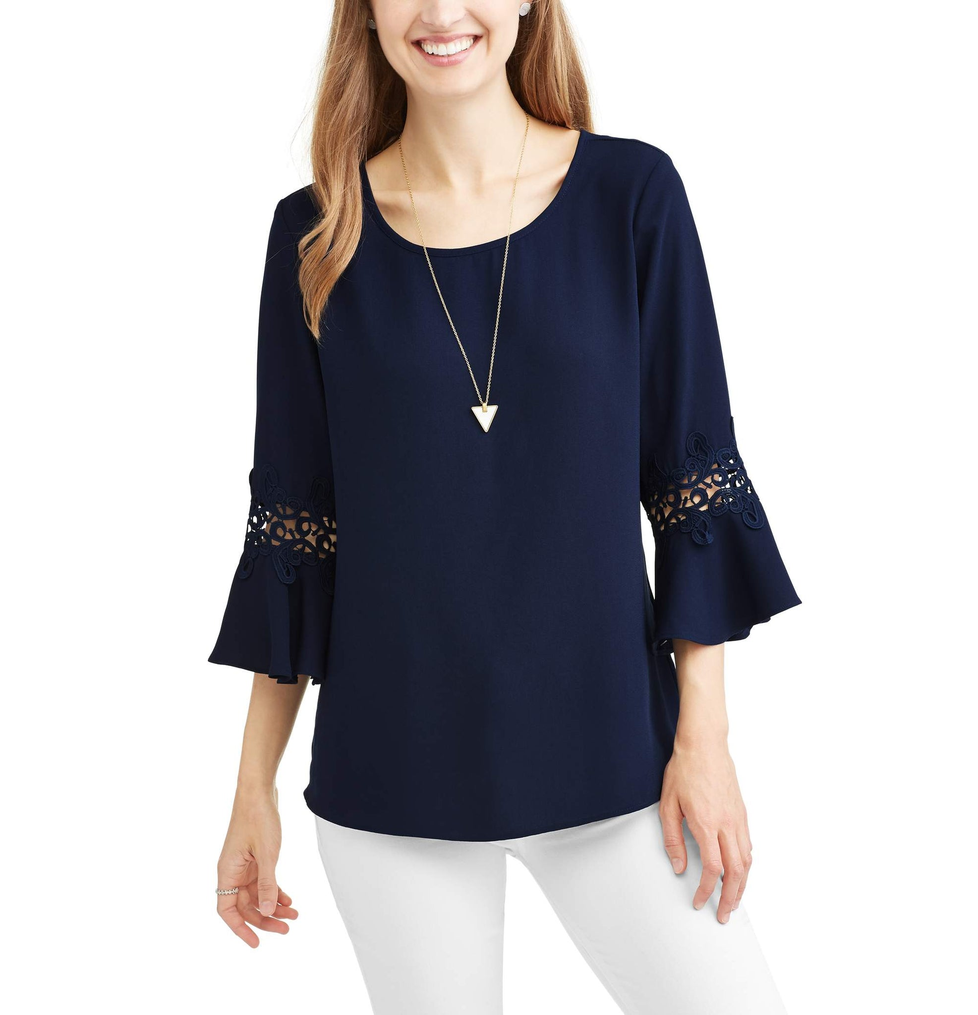 Women's Embroidered Trim Blouse