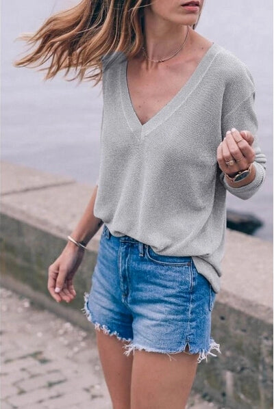 V Neck Light Weight Sweater