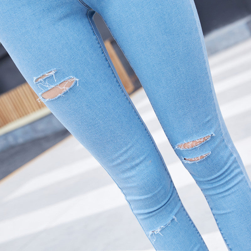 Skinny Ripped Stretchy Jeggings