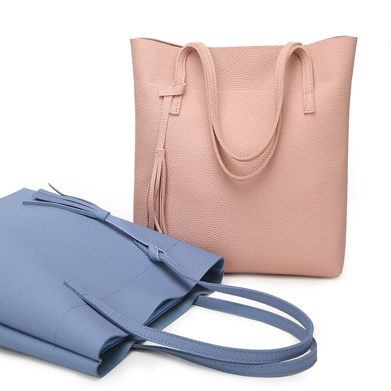 Soft Faux Leather Shoulder Bag