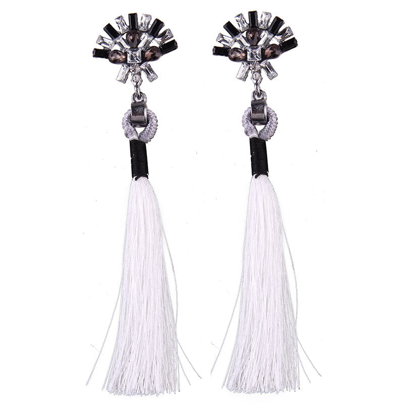 Statement Tassel Long Drop Earring