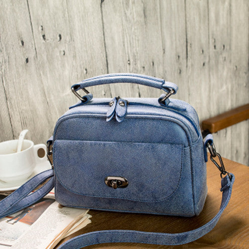 High Quality Suede Top Handle Bag