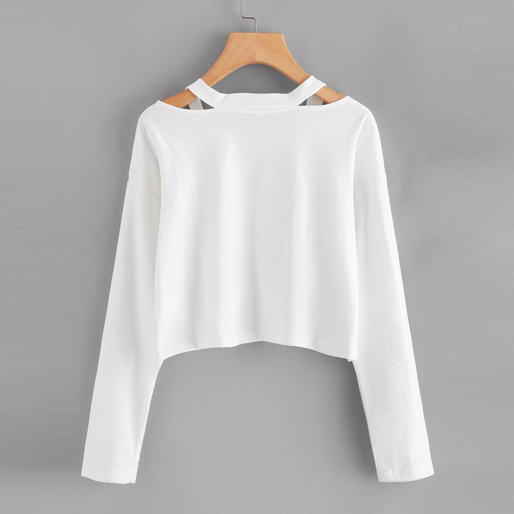 Cropped Long Sleeve Tops